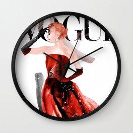Vogue Fashion Illustration #3 Wall Clock
