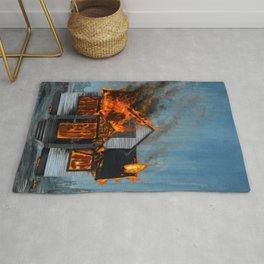House on Fire Rug