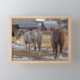 Ranch Horses Framed Mini Art Print