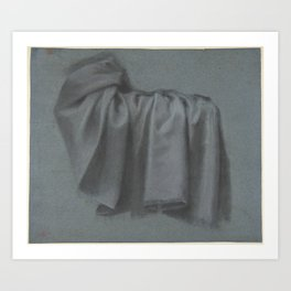 Study of Drapery1 Art Print