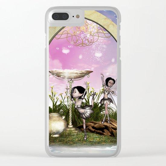Cute fairy Clear iPhone Case