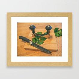 Chopped. Framed Art Print