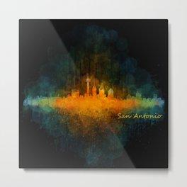 San Antonio City Skyline Hq v4 Metal Print