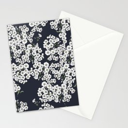 Black Phlox Stationery Cards