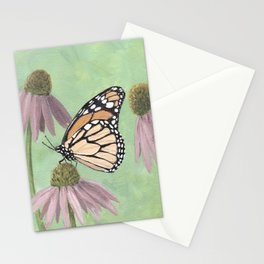 Monarch Butterfly Art, Orange Butterfly Painting Stationery Cards