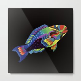 Rainbow parrot fish -2 Metal Print