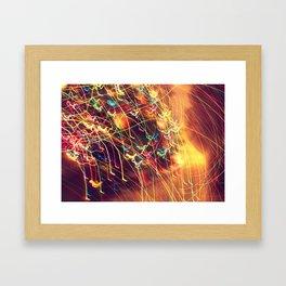 Butterfly Lights Framed Art Print