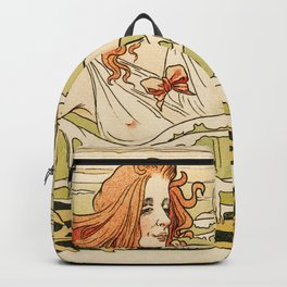 Cabourg Paris Beach art nouveau travel ad Backpack