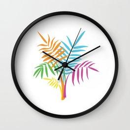 Palm Leaves Wall Clock