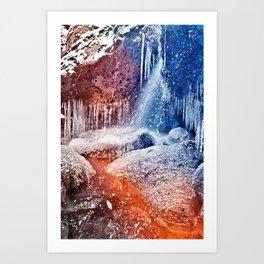Acrylic Winter Stream Art Print