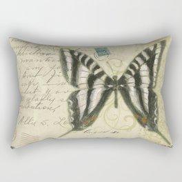 Zebra Butterfly Rectangular Pillow