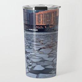 Chicago River Ice Shapes Travel Mug