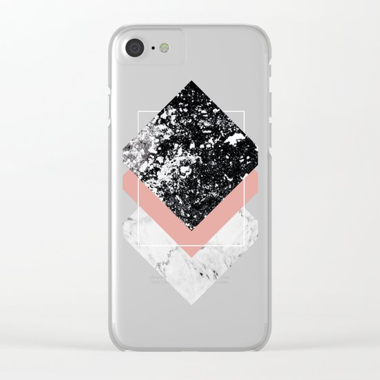 Geometric Textures 1 Clear iPhone Case
