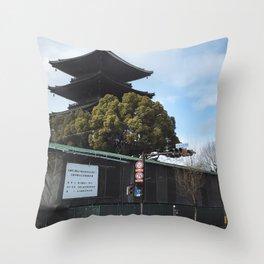 Kyoto Street Throw Pillow