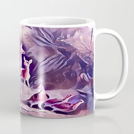 Whitetail Doe and Fawns in the Forest Coffee Mug