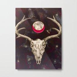Goddess of the Moon Metal Print