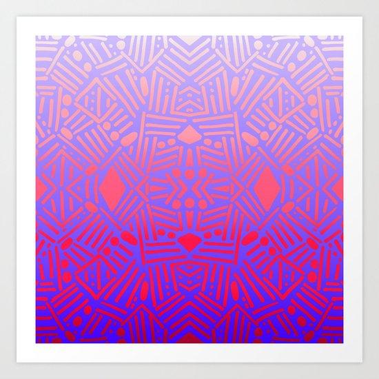 Bali (Ombre) Art Print
