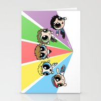 powerpuff girls Stationery Cards featuring Powerpuff!Direction by Cyrilliart