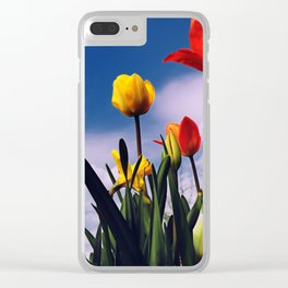 Relax With The Tulips Clear iPhone Case