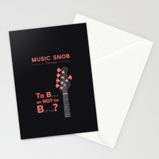 Bass: To B (String) — Music Snob Tip #214 Stationery Cards