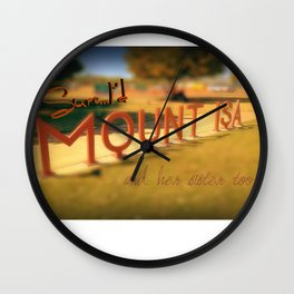Sure...I'd Mount Isa Wall Clock