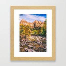 A River in Zion National Park Fine Art Print Framed Art Print