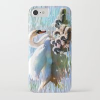 aelwen iPhone & iPod Cases featuring CYG-NIFICANT by Catspaws