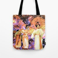 angels Tote Bags featuring Angels by Saundra Myles
