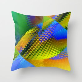 Daily Design 96 - Slowly Sinking Your Teeth Into A Pineapple Chunk Throw Pillow