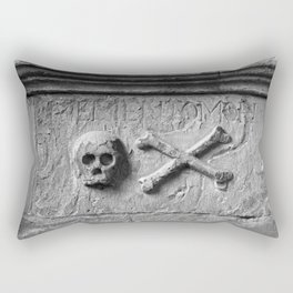 Skull and Crossbones Rectangular Pillow