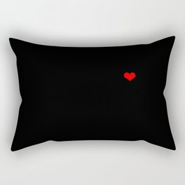 Black Square, Red Hot Pixel. Abstract Art Of the XXI Century. The digital age masterpiece Rectangular Pillow