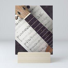 happy strings {ukulele Mini Art Print
