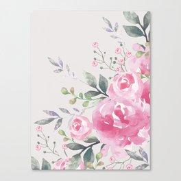 ROSES FLORAL BOUQUET Canvas Print