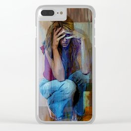 AND ALICE WONDERS...HOW EVER DID SHE GET THIS WAY Clear iPhone Case