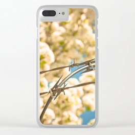 Wires and blossoms Clear iPhone Case