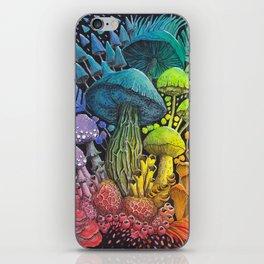 Rainbow Mushroom Composition #3 | Watercolor Illustration iPhone Skin