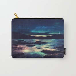 Magical Mountain Lake : Deep Pastels Teal Mauve Carry-All Pouch