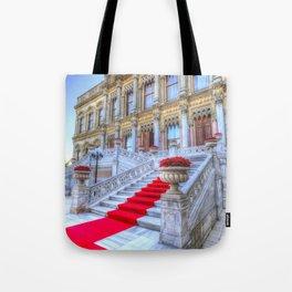 Ciragan Palace Istanbul Red Carpet Tote Bag