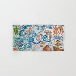 Ocean Zentangle Hand & Bath Towel