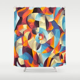 Color Power Shower Curtain