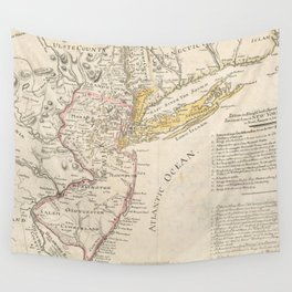 Vintage Map of New Jersey (1780) Wall Tapestry