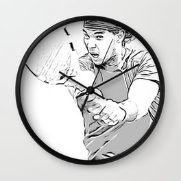 Rafa's Brilliant Backhand Wall Clock