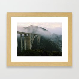 Bixby Bridge, Big Sur, California (landscape) Framed Art Print