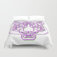 rave Duvet Covers featuring Tiger Rave by James Thornton