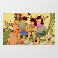 fairy tale Area & Throw Rugs featuring Fairy Tale by Radical Ink by JP Valderrama
