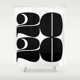 2020 Year | Typography | Square Shower Curtain