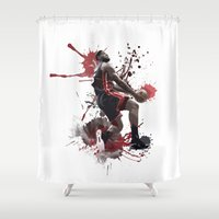 lebron Shower Curtains featuring LeBron 6 by Asta Dagmar