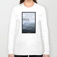 travel poster Long Sleeve T-shirts featuring Hoth Travel Poster by Tawd86