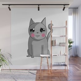 Cat with the Sad Eyes Wall Mural