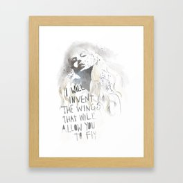 I Will Invent The Wings Framed Art Print